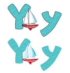 letter Y yacht vector image vector image