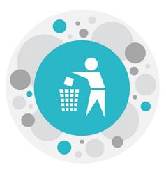 Of cleanup symbol on trash bin vector