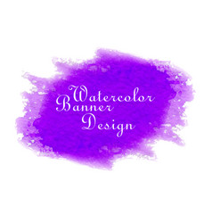 purple watercolor banner design vector image