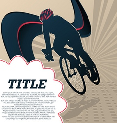 sport template poster cycling vector image vector image