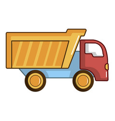 toy truck icon cartoon style vector image