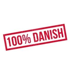 100 percent danish rubber stamp vector image