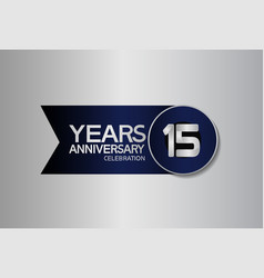 15 years anniversary logo style with circle vector