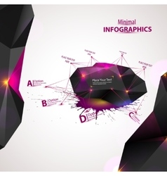 3D Abstract Mesh Background with Circles vector image
