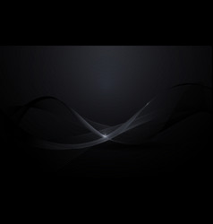 abstract black wavy digital background vector image