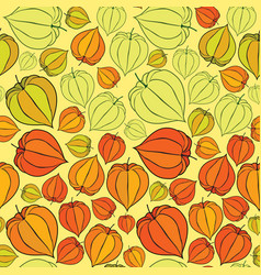 Abstract floral seamless pattern winter cherry vector
