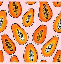 abstract papayas summer vibes seamless pattern vector image
