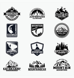 adventure logo badges 10 vector image