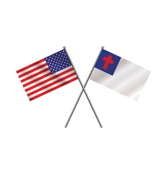 American and christian flag vector