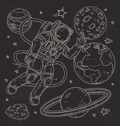 Astronaut spacemanflies vector