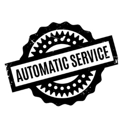 Automatic Service rubber stamp vector