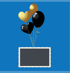 banners with balloon isolated on background vect vector image