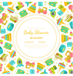 bashower invitation template card with baby vector image