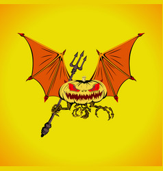 bat halloween logo vector image