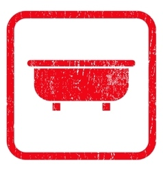 Bathtub Icon Rubber Stamp vector