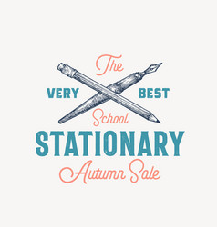 best school stationary abstract sign vector image
