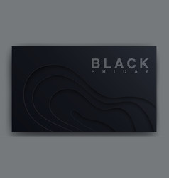 black friday poster concept sales modern vector image