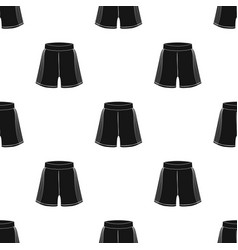 boxing shorts icon in black style isolated on vector image