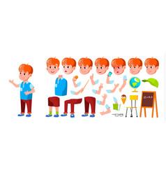 boy schoolboy kid primary school child vector image