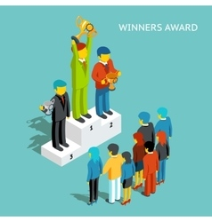 Business award winners Successful business people vector image