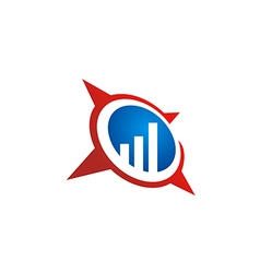business finance chart star logo vector image
