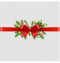 christmas garland transparent background vector image
