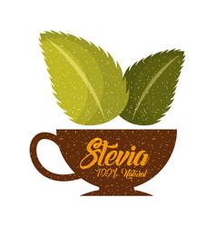 coffee stevia natural sweetener vector image