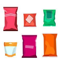 Colorful blank boil food snack packaging vector
