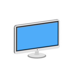 computer monitor display symbol flat isometric vector image