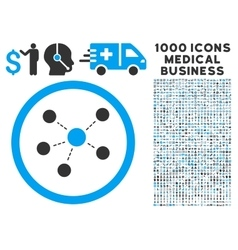 Connections Icon with 1000 Medical Business vector image
