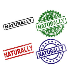 Damaged textured naturally seal stamps vector