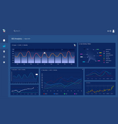 Dashboard infographic template vector