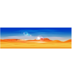 Desert and rocky mountains vector