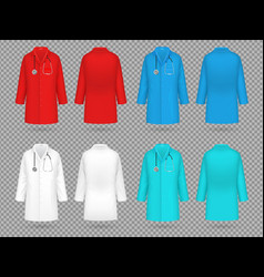 doctor coat colorful lab uniform doctor medical vector image