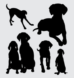 Dog animal silhouette vector