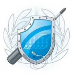 electronic shield vector image