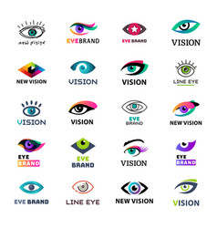 eye blinker business icon glimmer template logo vector image