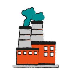 Factory cartoon flat draw vector