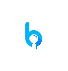 Find letter b logo icon design vector
