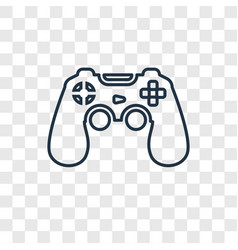 game controller concept linear icon isolated on vector image