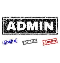 Grunge admin textured rectangle watermarks vector