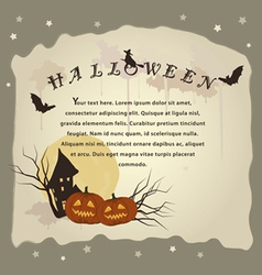halloween background for invitation cards vector image