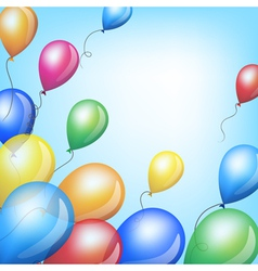 Holiday backgrounds with balloons vector image