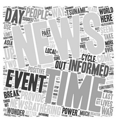 How Much News Is Good News text background vector image