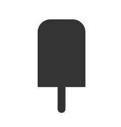 ice cream icon on white background flat style vector image
