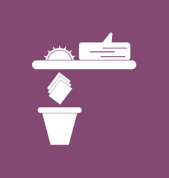 Icon paper and trash vector