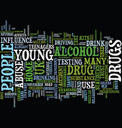 Latest drug abuse statistics in young people text vector