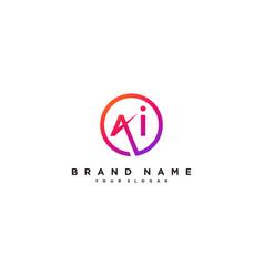 Letter ai logo design vector