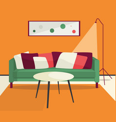 Lliving room interior vector