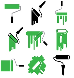 logo icons rollerpaint vector image